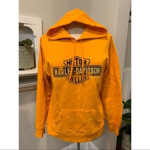 Bright Orange Harley Davidson Hoodie